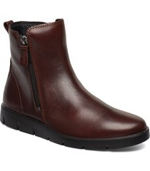 bella shoes boots ankle boots ankle boots flat heel brun ecco