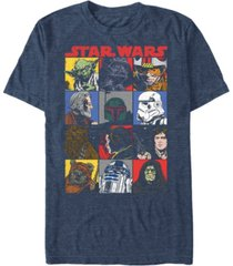 star wars men's classic comic character squares short sleeve t-shirt
