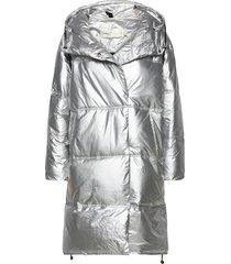 hilliw coat gevoerde lange jas zilver inwear