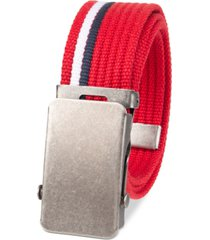 levi's big boys casual web belt with military-inspired plaque buckle