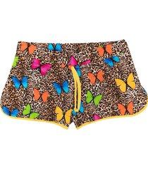 mc2 saint barth teen animal print shorts