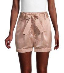 a.l.c. women's merrick paperbag silk-blend shorts - dusty rose - size m