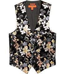 egara orange black metallic formal vest
