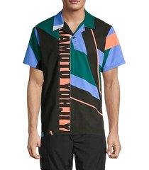 logo colorblock swim shirt
