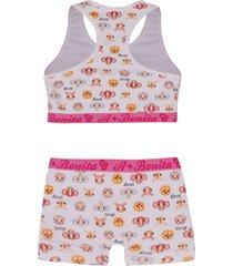 conjunto top e calcinha juvenil estampado le lingerie 23017