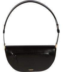 burberry front zipped pocket detail flap shoulder bag
