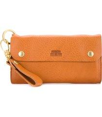 as2ov oiled shrink long wallet - brown