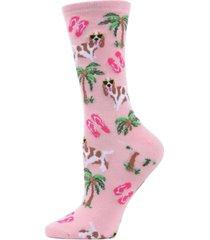 memoi tropical spaniel women's novelty socks