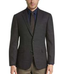 awearness kenneth cole charcoal tic slim fit sport coat