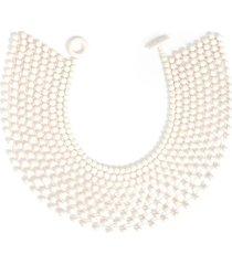 natori bone small beaded necklace, women's, cotton
