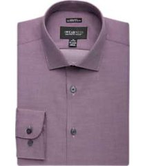 awearness kenneth cole burgundy stripe extreme slim fit dress shirt