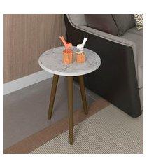 mesa lateral redonda móveis bechara brilhante com pés palito