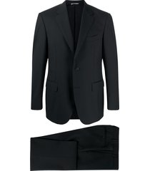 canali two-piece formal suit - black