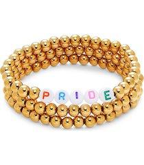 eye candy la women's three-piece pride bracelet set