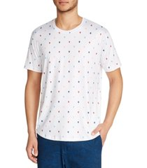 tallia men's slim-fit stretch skull print t-shirt
