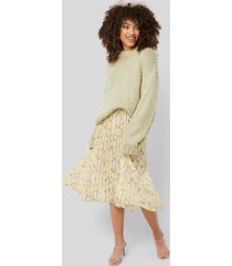 na-kd trend layered pleated skirt - multicolor