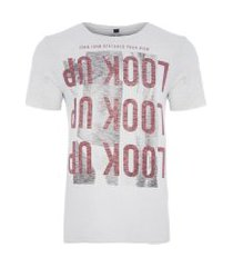 t-shirt masculina distorted view - off white