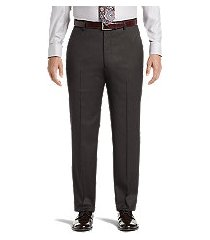 signature collection tailored fit flat front dress pants - big & tall by jos. a. bank