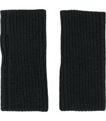 dolce & gabbana chunky-knit wrist warmers - black