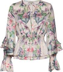 estrid blouse blus långärmad multi/mönstrad by malina