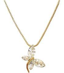 collar mariposa rodio dorado blanco joyas montero
