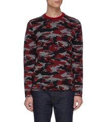 'matterhorn' camouflage print water-repellent merino wool sweater