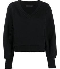 diesel crossover v-neck sweatshirt - black