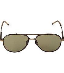 54mm bronze aviator sunglasses