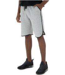 bermuda oxer botone sport - masculina - cinza escuro/preto