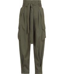 red valentino cotton and virgin wool twill cargo trouser