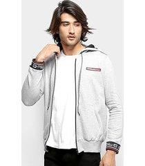 jaqueta moletom polo rg 518 detalhe punho capuz masculina