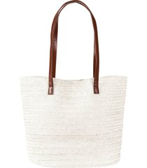 borsa shopper di paglia (bianco) - bpc bonprix collection