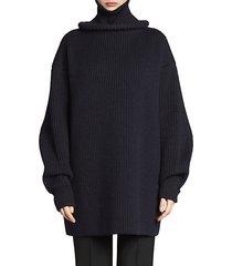 ring turtleneck wool knit sweater