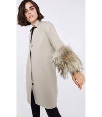 cappotto cashmere maniche pelliccia