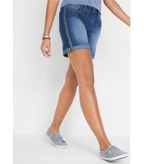 jeans short van soft stretch met studs