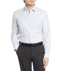 men's big & tall nordstrom men's shop traditional fit non-iron dot dress shirt, size 16 - 36/37 - white