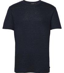 coma linen t-shirt t-shirts short-sleeved blauw j. lindeberg