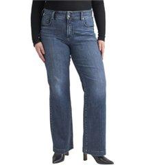 silver jeans co. plus size avery high rise trouser leg jeans