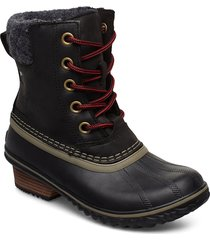 slimpack lace ii felt shoes boots ankle boots ankle boots flat heel svart sorel