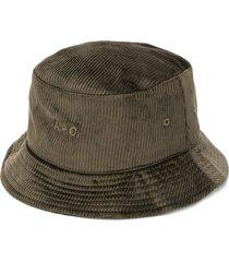 a.p.c. corduroy bucket hat - green