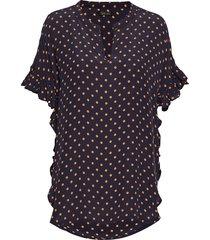 viona blouse korte mouwen zwart stella nova