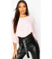 batwing sleeve blouse, blush