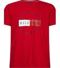 camiseta corp circular tee rojo tommy hilfiger