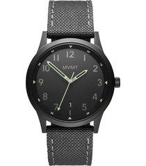 mvmt field canvas strap watch, 41mm in grey/black/gunmetal at nordstrom