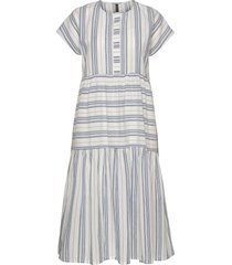 yasbreeza ss midi dress - icons s. knälång klänning blå yas