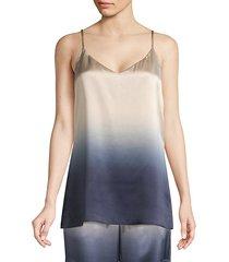 eva silk gradient camisole top