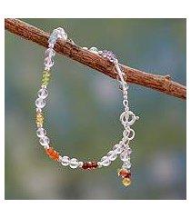 multi gemstone chakra bracelet, 'inner serenity' (india)