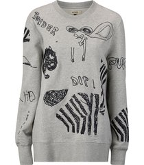 sweatshirt murry embroidery sweater
