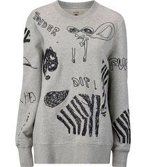 sweatshirt murry embroidery sweater