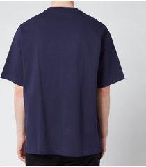 kenzo men's light tiger oversized t-shirt - navy blue - m